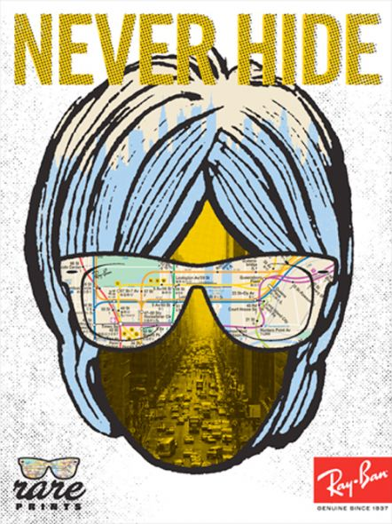 Campagne print « Never Hide » Ray Ban – La totale | Novart